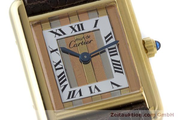 Used luxury watch Cartier Tank silver-gilt quartz Kal. 66  | 160909 02