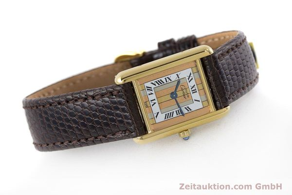 Used luxury watch Cartier Tank silver-gilt quartz Kal. 66  | 160909 03