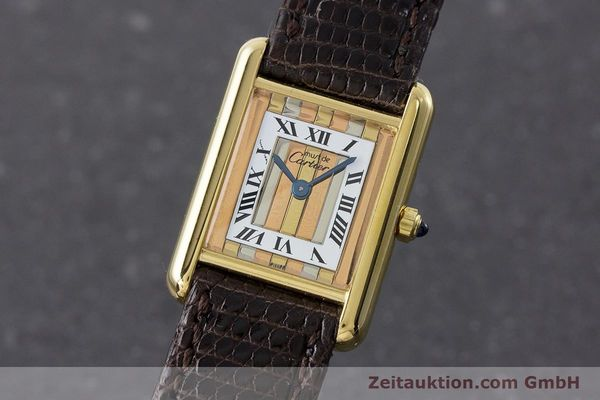 Used luxury watch Cartier Tank silver-gilt quartz Kal. 66  | 160909 04