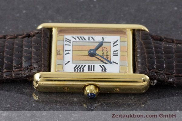 Used luxury watch Cartier Tank silver-gilt quartz Kal. 66  | 160909 05