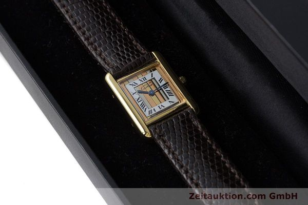 Used luxury watch Cartier Tank silver-gilt quartz Kal. 66  | 160909 07