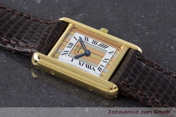 Used luxury watch Cartier Tank silver-gilt quartz Kal. 66  | 160909 12