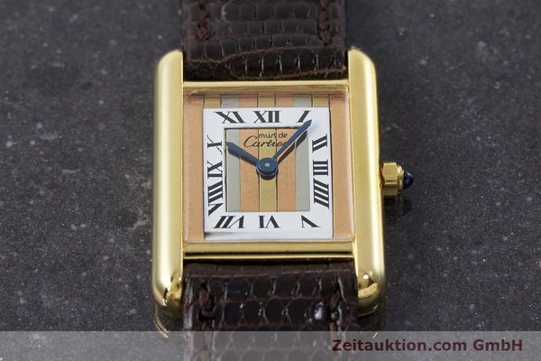 Used luxury watch Cartier Tank silver-gilt quartz Kal. 66  | 160909 13