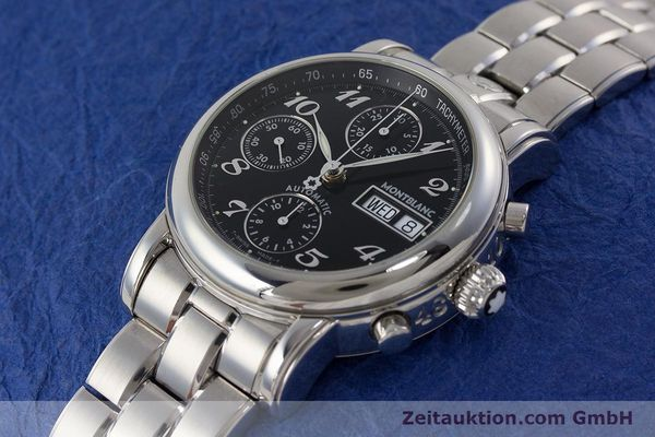 Used luxury watch Montblanc Meisterstück chronograph steel automatic Kal. 4810501 ETA 7750 Ref. 7016  | 160920 01