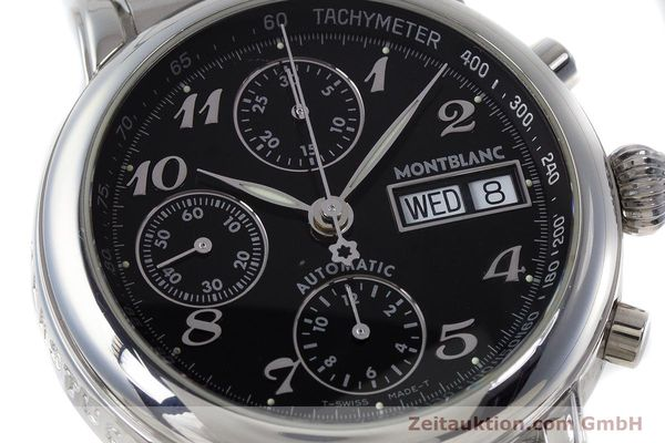 Used luxury watch Montblanc Meisterstück chronograph steel automatic Kal. 4810501 ETA 7750 Ref. 7016  | 160920 02