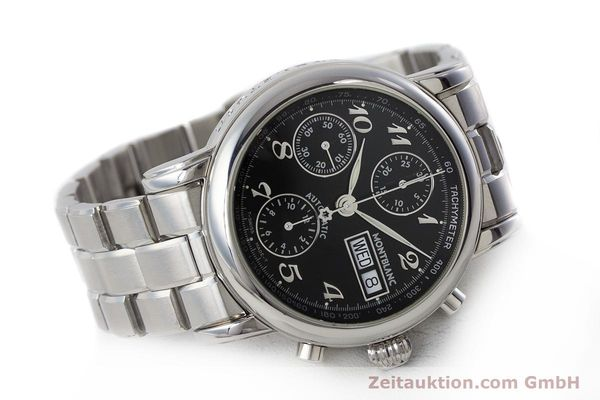 Used luxury watch Montblanc Meisterstück chronograph steel automatic Kal. 4810501 ETA 7750 Ref. 7016  | 160920 03