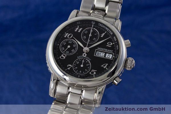 Used luxury watch Montblanc Meisterstück chronograph steel automatic Kal. 4810501 ETA 7750 Ref. 7016  | 160920 04