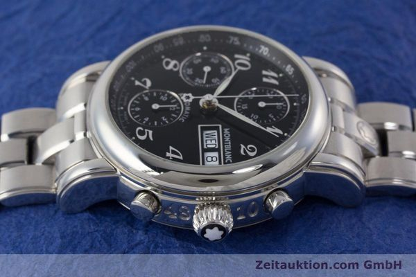 Used luxury watch Montblanc Meisterstück chronograph steel automatic Kal. 4810501 ETA 7750 Ref. 7016  | 160920 05
