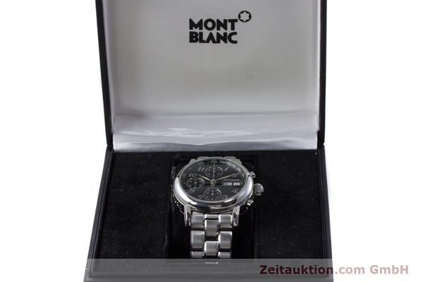 Used luxury watch Montblanc Meisterstück chronograph steel automatic Kal. 4810501 ETA 7750 Ref. 7016  | 160920 07