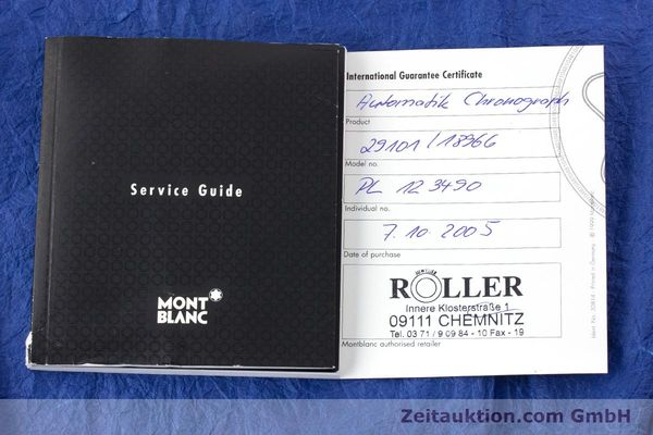 Used luxury watch Montblanc Meisterstück chronograph steel automatic Kal. 4810501 ETA 7750 Ref. 7016  | 160920 08