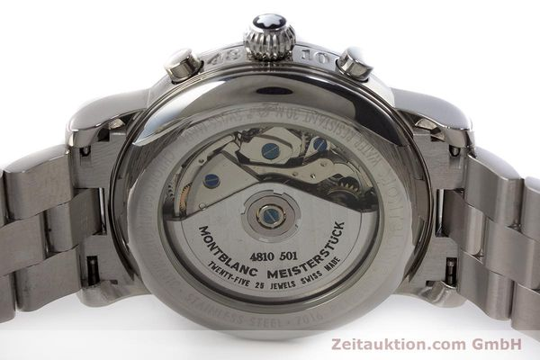 Used luxury watch Montblanc Meisterstück chronograph steel automatic Kal. 4810501 ETA 7750 Ref. 7016  | 160920 09