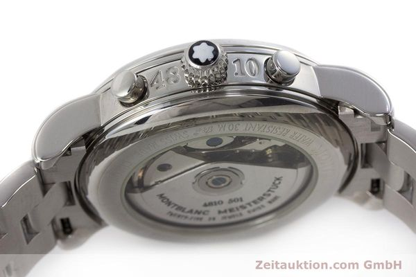 Used luxury watch Montblanc Meisterstück chronograph steel automatic Kal. 4810501 ETA 7750 Ref. 7016  | 160920 11