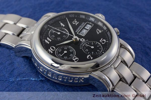 Used luxury watch Montblanc Meisterstück chronograph steel automatic Kal. 4810501 ETA 7750 Ref. 7016  | 160920 15