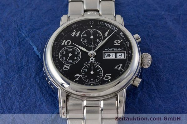 Used luxury watch Montblanc Meisterstück chronograph steel automatic Kal. 4810501 ETA 7750 Ref. 7016  | 160920 16