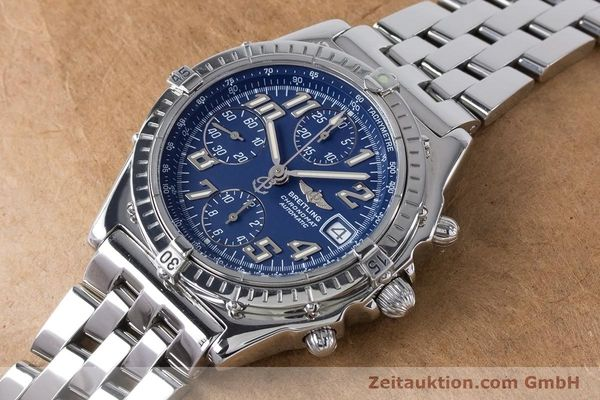 Used luxury watch Breitling Chronomat chronograph steel automatic Kal. B13 ETA 7750 Ref. A13050.1  | 160929 01
