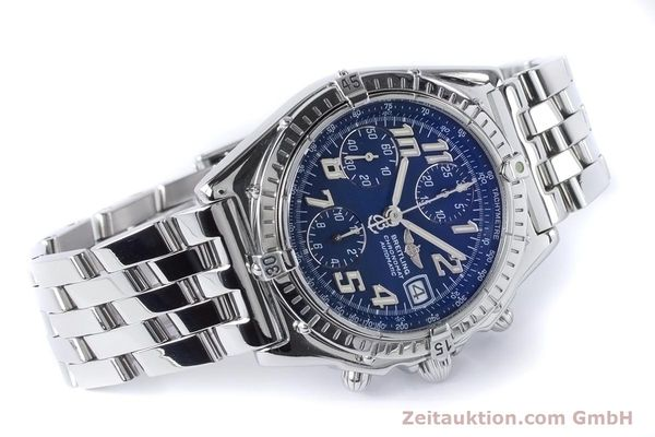 Used luxury watch Breitling Chronomat chronograph steel automatic Kal. B13 ETA 7750 Ref. A13050.1  | 160929 03