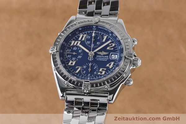 Used luxury watch Breitling Chronomat chronograph steel automatic Kal. B13 ETA 7750 Ref. A13050.1  | 160929 04