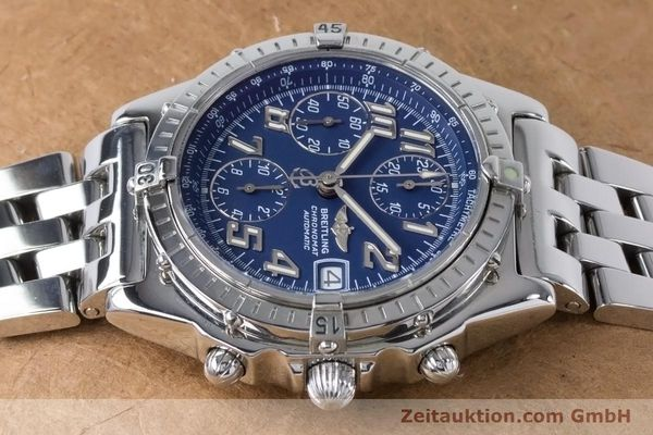 Used luxury watch Breitling Chronomat chronograph steel automatic Kal. B13 ETA 7750 Ref. A13050.1  | 160929 05