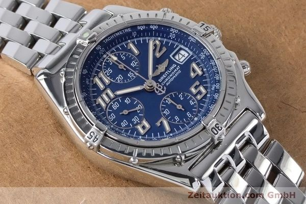 Used luxury watch Breitling Chronomat chronograph steel automatic Kal. B13 ETA 7750 Ref. A13050.1  | 160929 15