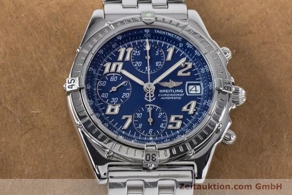 Used luxury watch Breitling Chronomat chronograph steel automatic Kal. B13 ETA 7750 Ref. A13050.1  | 160929 16