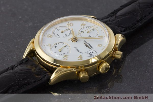 Used luxury watch Longines * chronograph gold-plated automatic Kal. L674.2 ETA 7750 Ref. L4.642.2  | 160931 01