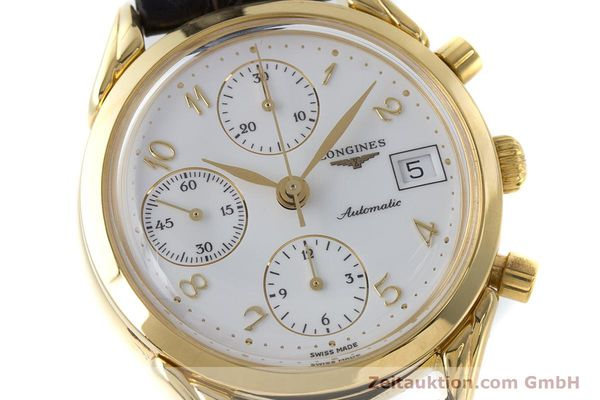 Used luxury watch Longines * chronograph gold-plated automatic Kal. L674.2 ETA 7750 Ref. L4.642.2  | 160931 02