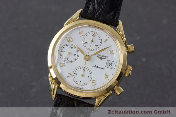 LONGINES CHRONOGRAPH GOLD-PLATED AUTOMATIC KAL. L674.2 ETA 7750 LP: 2880EUR [160931]