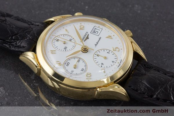 Used luxury watch Longines * chronograph gold-plated automatic Kal. L674.2 ETA 7750 Ref. L4.642.2  | 160931 12