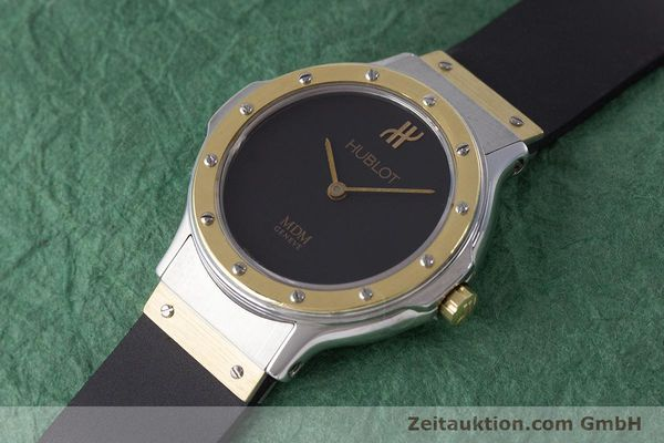 Used luxury watch Hublot MDM steel / gold quartz Kal. ETA 976.001 Ref. 1280.100.2  | 160932 01