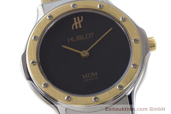 Used luxury watch Hublot MDM steel / gold quartz Kal. ETA 976.001 Ref. 1280.100.2  | 160932 02