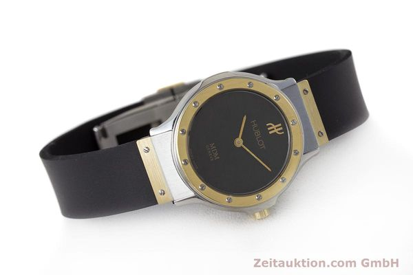 Used luxury watch Hublot MDM steel / gold quartz Kal. ETA 976.001 Ref. 1280.100.2  | 160932 03