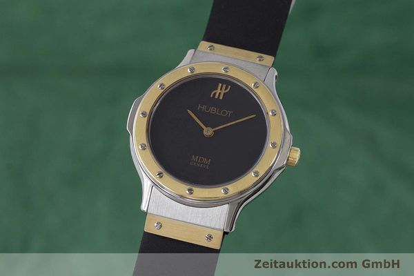 Used luxury watch Hublot MDM steel / gold quartz Kal. ETA 976.001 Ref. 1280.100.2  | 160932 04