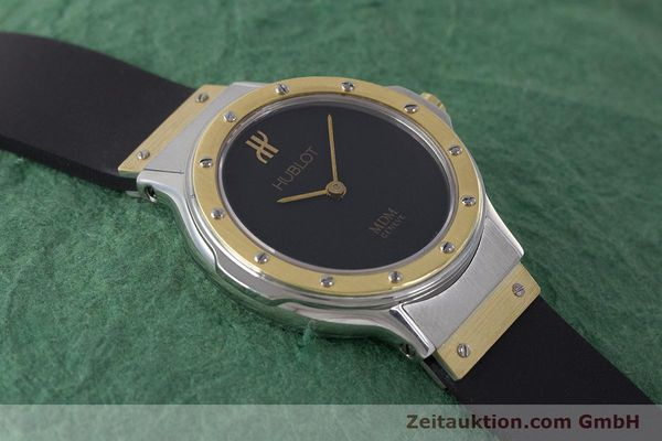Used luxury watch Hublot MDM steel / gold quartz Kal. ETA 976.001 Ref. 1280.100.2  | 160932 12