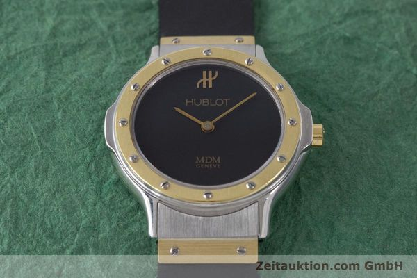 Used luxury watch Hublot MDM steel / gold quartz Kal. ETA 976.001 Ref. 1280.100.2  | 160932 13
