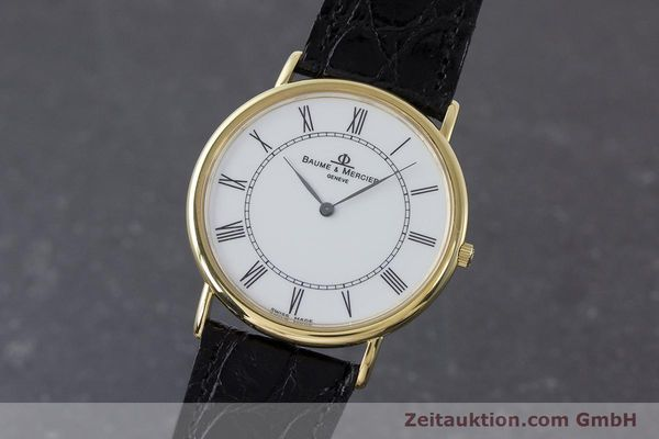 BAUME & MERCIER LADY 18K (0,750) RONDE GOLD DAMENUHR VP: 6300,- EURO [160938]