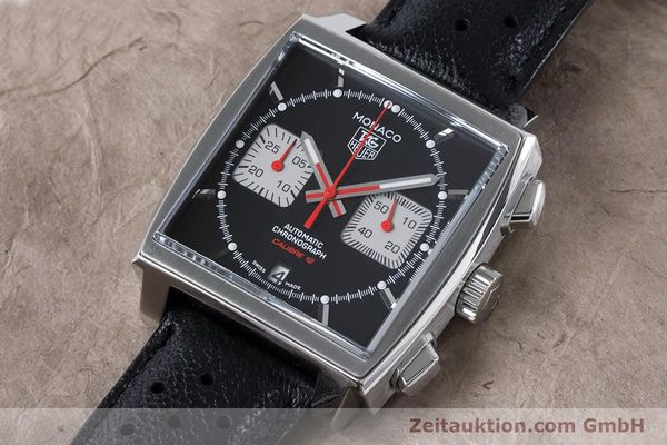 Used luxury watch Tag Heuer Monaco chronograph steel automatic Kal. 12 Ref. CAW2114  | 160939 01