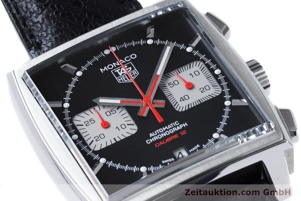 Used luxury watch Tag Heuer Monaco chronograph steel automatic Kal. 12 Ref. CAW2114  | 160939 02