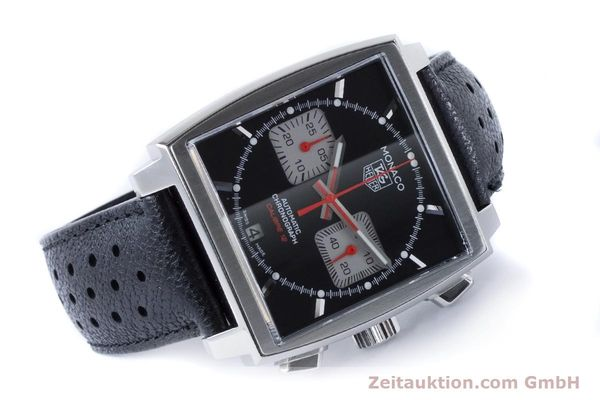 Used luxury watch Tag Heuer Monaco chronograph steel automatic Kal. 12 Ref. CAW2114  | 160939 03