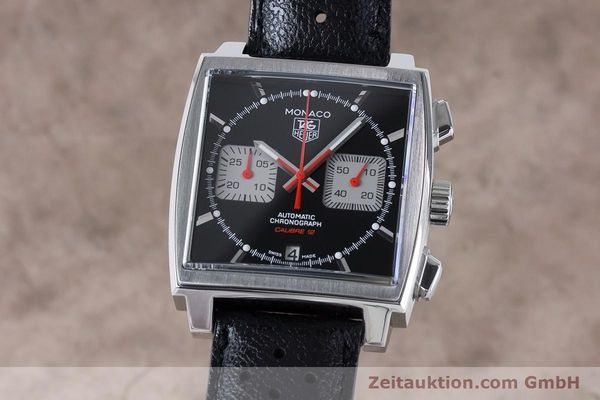 Used luxury watch Tag Heuer Monaco chronograph steel automatic Kal. 12 Ref. CAW2114  | 160939 04