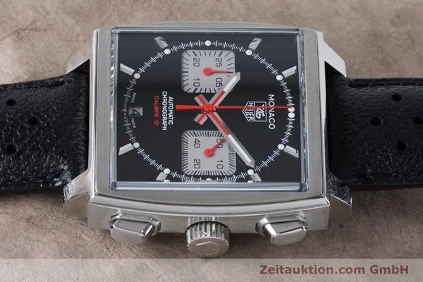 Used luxury watch Tag Heuer Monaco chronograph steel automatic Kal. 12 Ref. CAW2114  | 160939 05