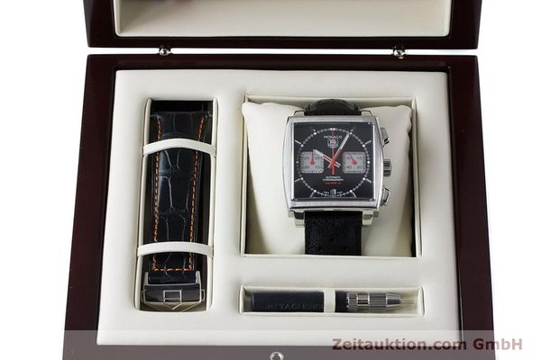 Used luxury watch Tag Heuer Monaco chronograph steel automatic Kal. 12 Ref. CAW2114  | 160939 07