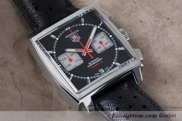 Used luxury watch Tag Heuer Monaco chronograph steel automatic Kal. 12 Ref. CAW2114  | 160939 15