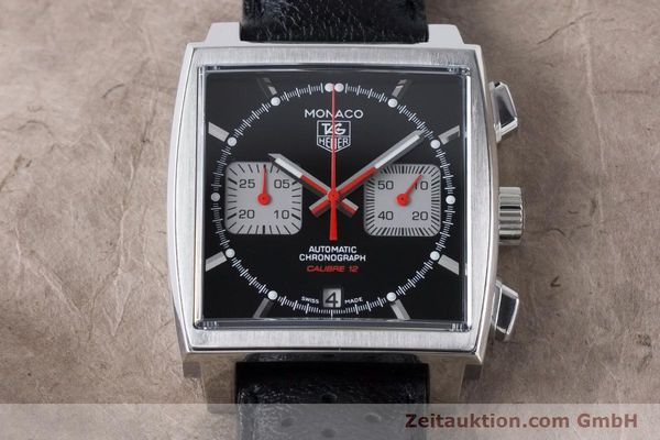Used luxury watch Tag Heuer Monaco chronograph steel automatic Kal. 12 Ref. CAW2114  | 160939 16