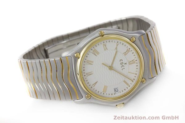 Used luxury watch Ebel Classic Wave steel / gold quartz Kal. 187-1 Ref. 1187141  | 160948 03