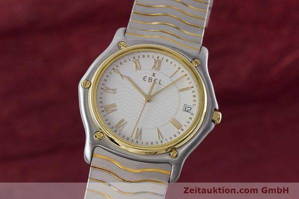Used luxury watch Ebel Classic Wave steel / gold quartz Kal. 187-1 Ref. 1187141  | 160948 04