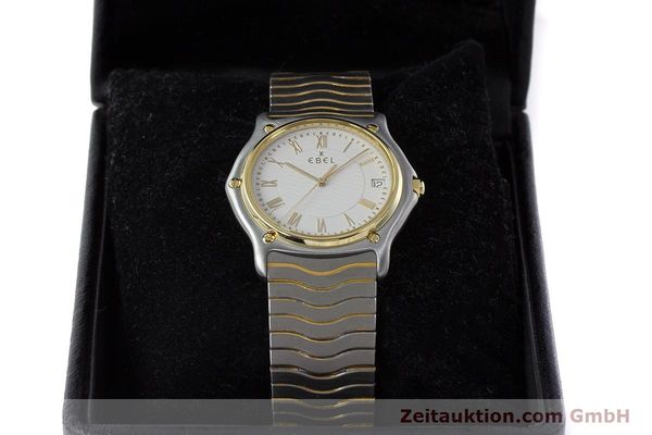 Used luxury watch Ebel Classic Wave steel / gold quartz Kal. 187-1 Ref. 1187141  | 160948 07
