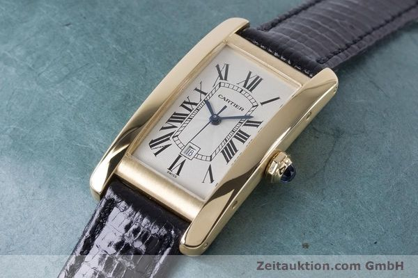 Used luxury watch Cartier Tank Américaine 18 ct gold automatic Kal. 077 ETA 2671 Ref. 1725  | 160949 01