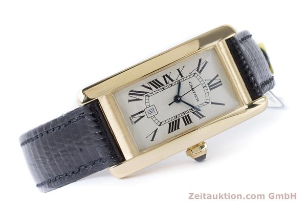 Used luxury watch Cartier Tank Américaine 18 ct gold automatic Kal. 077 ETA 2671 Ref. 1725  | 160949 03