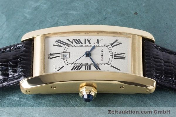 Used luxury watch Cartier Tank Américaine 18 ct gold automatic Kal. 077 ETA 2671 Ref. 1725  | 160949 05