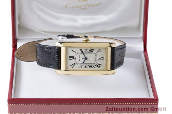 Used luxury watch Cartier Tank Américaine 18 ct gold automatic Kal. 077 ETA 2671 Ref. 1725  | 160949 07